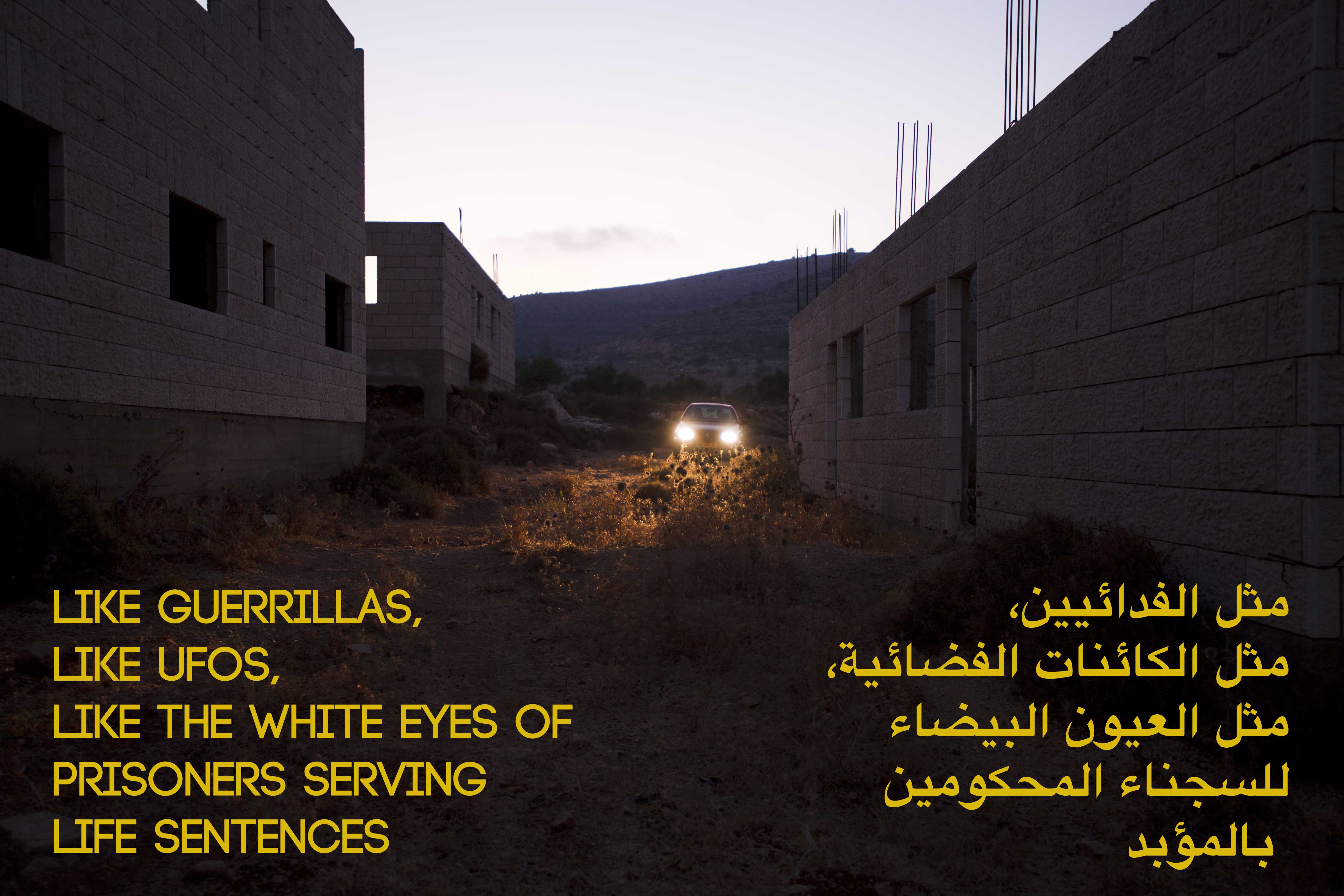 Basel Abbas and Ruanne Abou-Rahme, The Incidental Insurgents (2012- ongoing), Chapter 2, Video Still 3